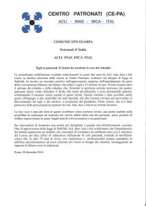 Comunicato CePa 18dicembre2014